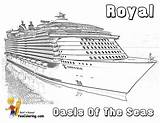 Cruise Ship Coloring Seas Oasis Pages Template Sketch Yescoloring Printable Sheets Cruises Liner Boys Spectacular sketch template