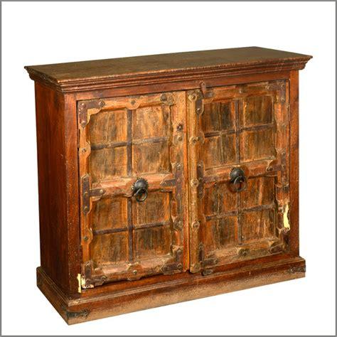 rustic accent cabinet rustic reclaimed wooden storage buffet 2 door