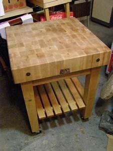 Used Butcher Block Table eBay