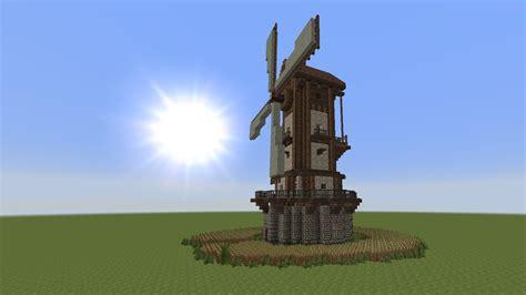 minecraft tutorial windmuehle bauen build  windmill  youtube