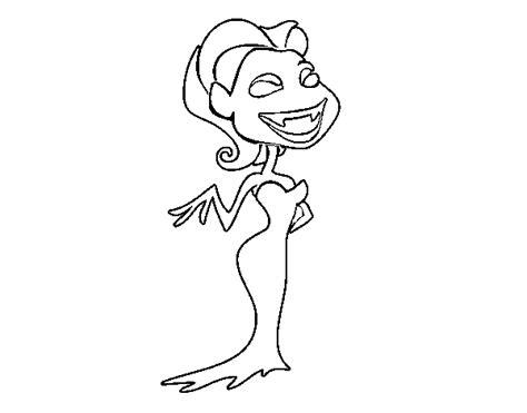disegno  vampiro femmina da colorare acolorecom