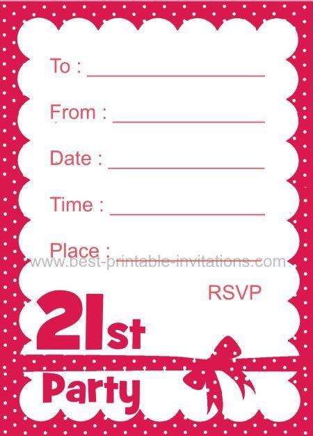 printable st birthday invitation