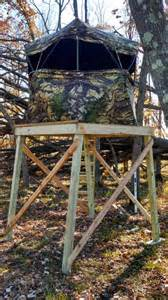 Pop Up Blind Stand by Elevated Quot Ground Quot Blind Mn Deer Hunting Bear Elk Moose