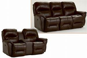 Leather sofa recliners element recline sofa in black for Sectional sofa with bed and recliner