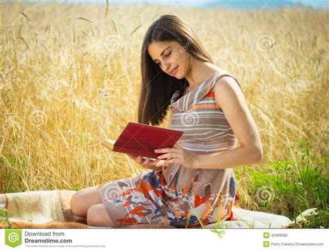 Beautiful Young Girl Reading Book Stock Photo  Image Of Autumn, Lifestyle 42989080