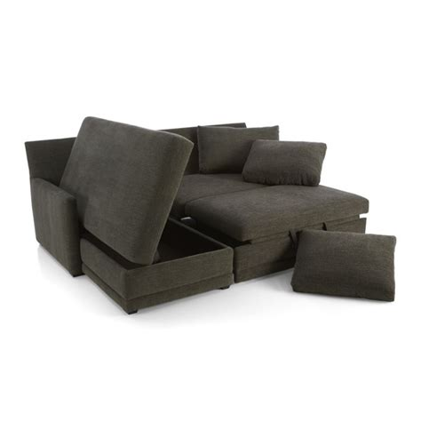 Trundle Sleeper Sofa by Reston 2 Trundle Sleeper Sectional Sofa With Left