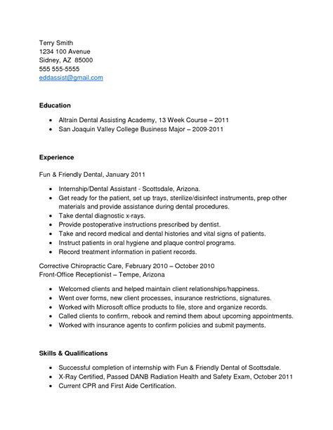 free edit altrain dental assistant resume academy