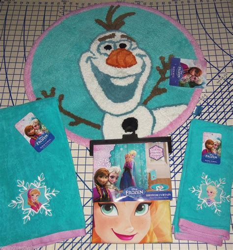 Disney Frozen Bathroom Set by Disney Frozen Elsa Shower Curtain Olaf Bath Rug Bath