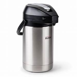 Bunn 32125 0000 Coffee Airpot Lever Action 2 5 Liter 84oz