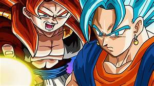 Super Saiyan 4 Gogeta vs Super Saiyan Blue Vegito + Dragon ...