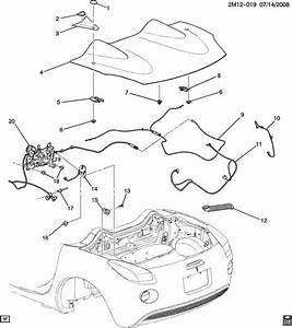 2006 2010 saturn sky pontiac solstice rear trunk latch With pontiac g6 convertible top parts on wiring diagram for 2008 g6