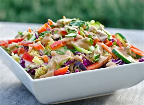 thai salad thai crunch salad with peanut dressing once upon a chef