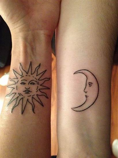 Moon Sun Matching Tattoo Tattoos Designs Meaning