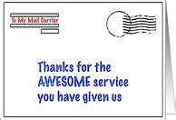 thanks mail carrier warming up thank you cards for mailman postal worker from greeting card universe