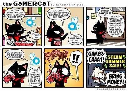 Gamercat Cat Gamer Comic Comics Summer Strips