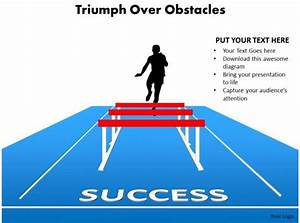 Triumph Over Obstacles Sports Man Silhouette Running And