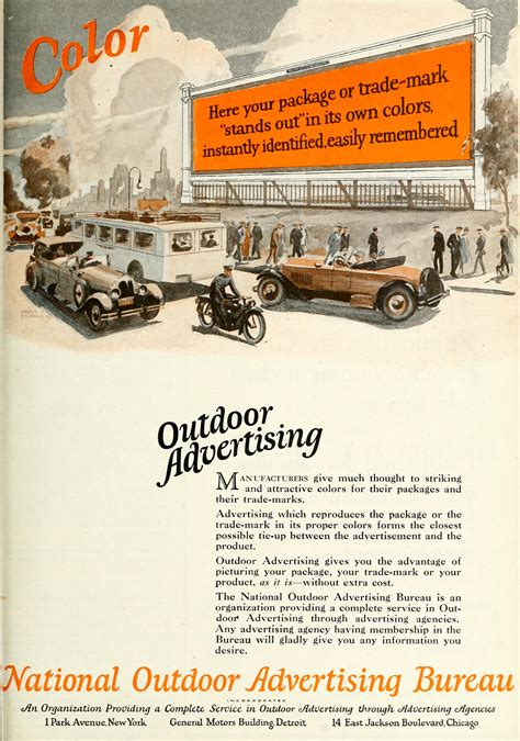 outdoor advertising bureau national outdoor advertising bureau 1926 ad your