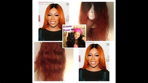 K. Michelle Burnt Orange Inspired Hair Color