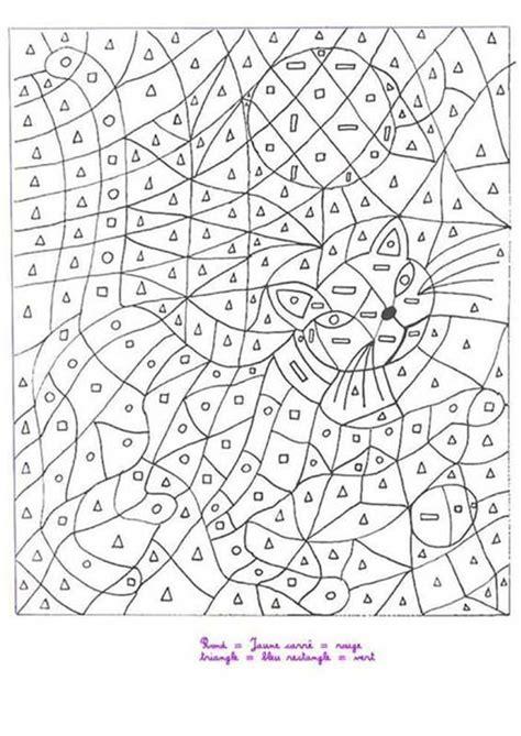 coloriage magique chat dessin gratuit  imprimer