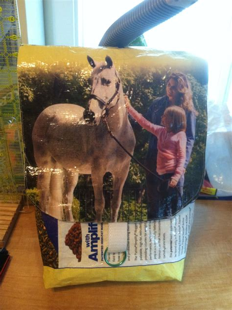 horse feed bag bags purse sacks food upcycled into uploaded user pattern