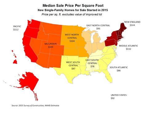 Maps 2015 Singlefamily Prices Per Square Foot  Sbc Magazine