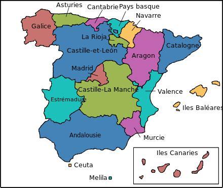Comment On Dit Carte Du Monde En Espagnol by Infos Sur Region Espagnol Arts Et Voyages
