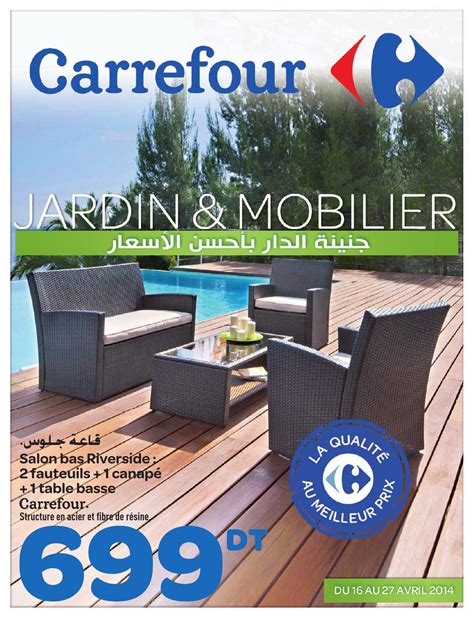 canapé pliable catalogue carrefour quot jardin et mobilier quot by carrefour