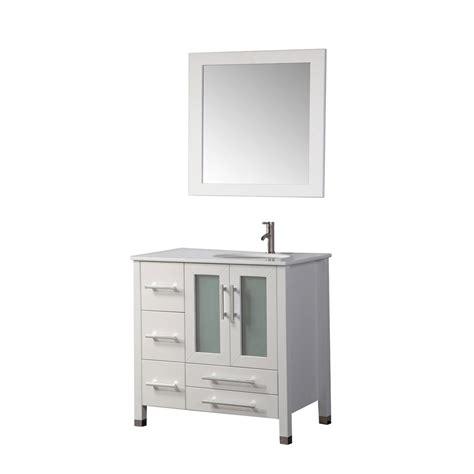sweden 36 quot single sink bathroom vanity set right side white