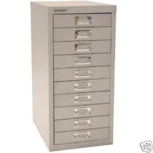bisley 10 multidrawer filing cabinet h12910nl silver