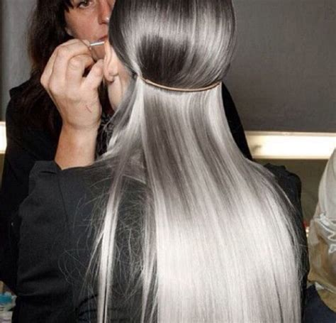 Ombre Grey White Hair The Fashion Medley