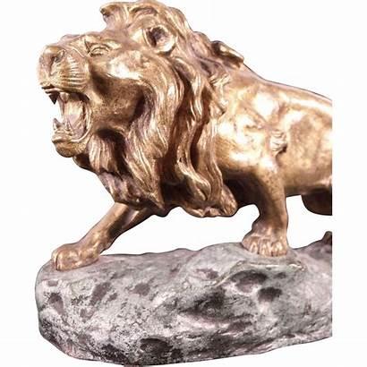 Lion Bronze Sculpture 19th Antique Late Century