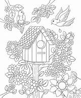 Coloring Pages Adults Birdhouse Drawing Adult Printable Floral Bird Spring Freebie Colorit Friday Bestcoloringpagesforkids Ty Flower Mandalas Christmas Books Fairy sketch template