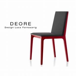 Chaise Rouge Design : chaise design bois deore pi tement peint rouge assise et dossier garnis habillage tissu ~ Teatrodelosmanantiales.com Idées de Décoration