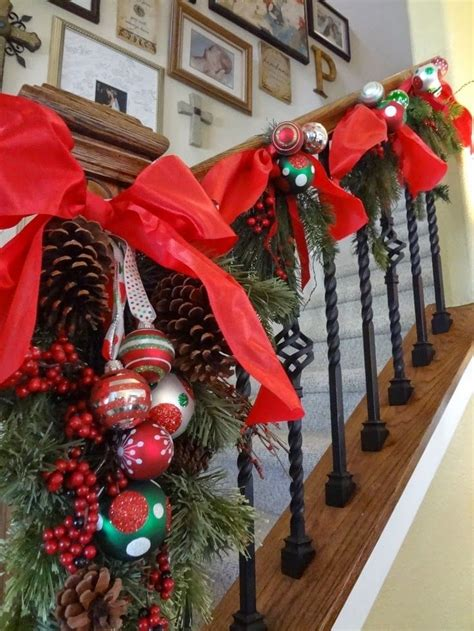images  christmas staircase  pinterest red