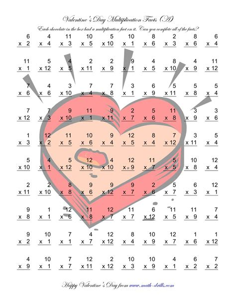 Multiplication Facts To 144 (a