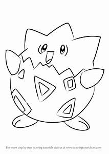 Learn How To Draw Togepi From Pokemon Pokemon Step By