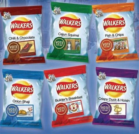 walkers crisps food discontinued weird crisp chips foods fish english breakfast builders digital flavour cup snack recipes strange guess bizarre