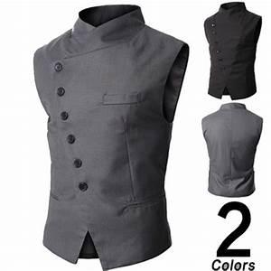 Gilet Sans Manche Homme Costume : mode homme sans manche veste gilet costume blouson blazer ~ Farleysfitness.com Idées de Décoration