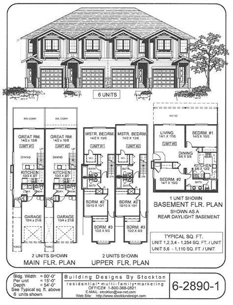 4-plex...skinny units | Apartment/House Plan Ideas