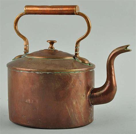 antique collecting tea pots copper tea kettle glass aluminium