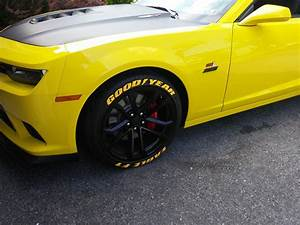 tread wear install has started camaro5 chevy camaro With eagle f1 tires white letters