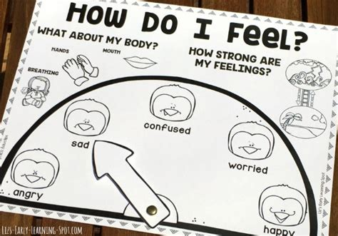 feel emotions chart lizs early learning spot