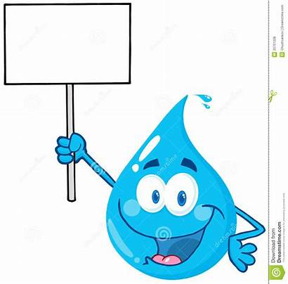 Drop Water Clipart Clip Splash Sign Character