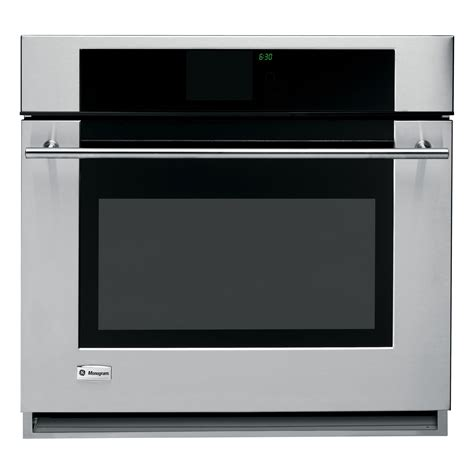 ge monogram zetrmss   convection single wall oven  lcd touchscreen controls sears