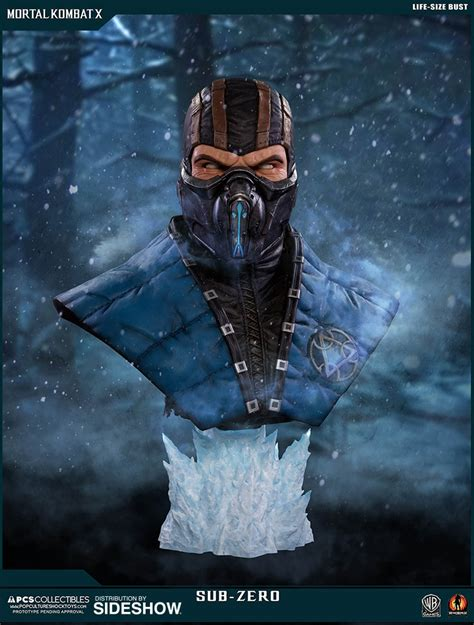 Mortal Kombat Sub Zero Life Size Bust By Pop Culture Shock