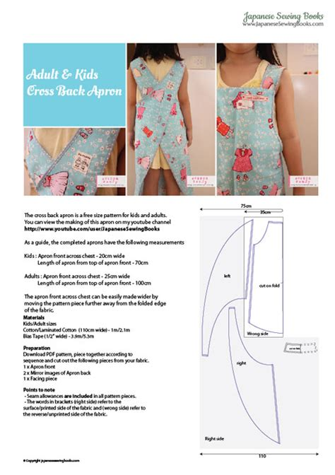 patron de tablier de cuisine free pattern tutorial and sewing cross back apron