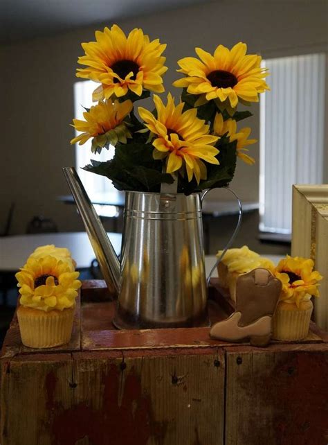 Sunflower bridal shower party See more party ideas at