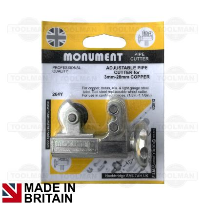 Monument 3mm  28mm Adjustable Pipe Cutter