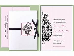 pink white and black parisian chic wedding invitations With digital wedding invitation websites
