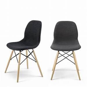 Chaise Tissu Noir : chaise tissu noir id es de d coration int rieure ~ Teatrodelosmanantiales.com Idées de Décoration